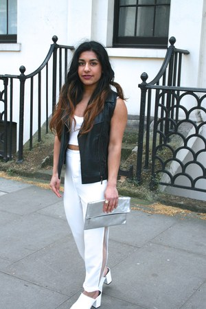 Missguided pants - white mules Forever 21 heels