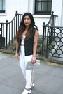 Missguided-pants-white-mules-forever-21-heels