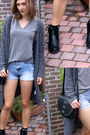 Heather-gray-h-m-divided-shirt-new-look-shorts