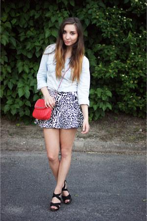 Mango bag - Stradivarius shirt - Zara skirt - Mango heels