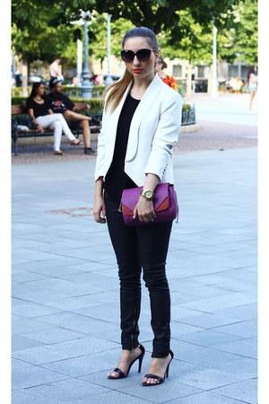 Zara bag - Mango blazer - Zara pants - Michael Kors watch - Zara heels