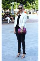 Zara bag - Mango blazer - Zara pants - Michael Kors watch - Zara heels