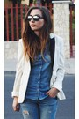 Zara-jeans-h-m-blazer-ray-ban-sunglasses-zara-heels