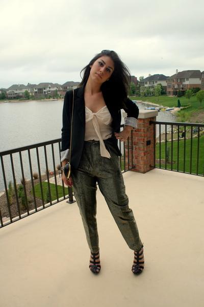 top - pants - blazer - shoes