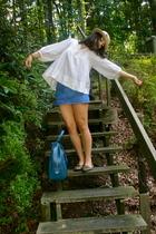 H&M blouse - H&M skirt - Urban Outfitters shoes - vintage hat - vintage purse