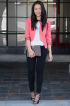 blazer aryn k blazer - knit Left on Houston sweater - lace-up Zara heels