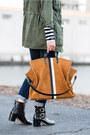 Riding-sam-edelman-boots-stripes-gap-shirt-tote-clare-v-bag