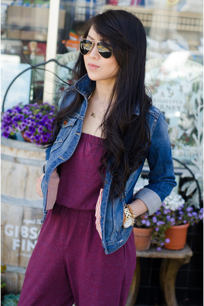cotton American Apparel jumper - denim Zara jacket - rayban sunglasses
