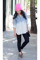 beanie Official Salmon hat - ombre Bella Dahl shirt