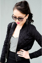 bomber Talula jacket - stripes American Apparel top