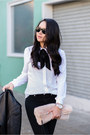 Leather-michael-kors-jacket-button-up-asos-blouse-lace-up-rachel-roy-heels