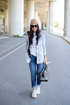 boyfriend Gap cardigan - graphic tee Zara t-shirt - low top Converse sneakers
