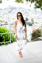 printed Nordstrom jumper - cat eye dior sunglasses - leather Zara sandals