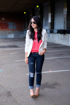H&M blazer - graphic tee Sincerely Jules t-shirt
