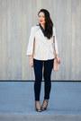 High-waisted-american-apparel-jeans-asos-shirt-polka-dot-forever-21-bag