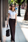 White-alfani-shirt-black-prada-bag-cateye-topshop-sunglasses