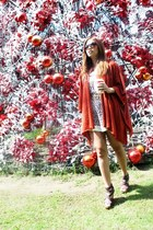 tawny peacelovefashion cape - eggshell vintage dress