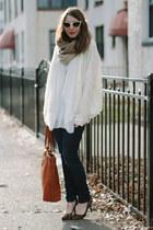knit Costa Blanca sweater - VIGOSS USA jeans - knit SHUI CHEN NEW YORK scarf