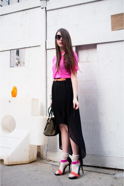 orange River Island heels - black sty Rebecca Minkoff bag - beige asos socks