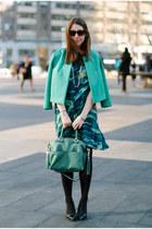 turquoise blue asos blazer - teal Kelly Wearstler dress