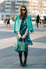 Teal-kelly-wearstler-dress-turquoise-blue-asos-blazer