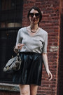 Black-leather-h-m-skirt-heather-gray-p-brahmin-bag