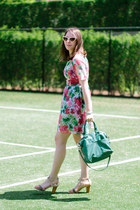 dark green printed floral ivana helsinki dress