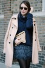 Navy-feather-zara-skirt-tan-trench-gap-coat-navy-knit-juicy-couture-sweater