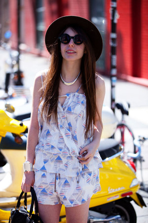 ivory silk Addison shorts - black round asos sunglasses - ivory silk Addison top