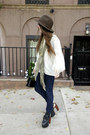 White-liz-claiborne-shirt-olive-green-deena-and-ozzy-scarf
