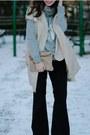 Beige-calvin-klein-jacket-black-flare-david-kahn-jeans