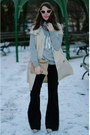 Black-flare-david-kahn-jeans-beige-calvin-klein-jacket