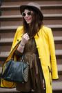 Yellow-nanette-lepore-coat-brown-kelly-wearstler-dress