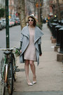 Light-pink-french-connection-dress-heather-gray-zara-coat