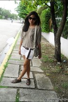 light brown Leaveland shoes - ivory Mango bag - FLY sunglasses