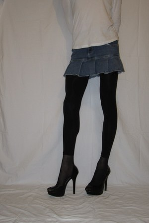 Claires tights - Zara heels - Claires skirt