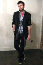 thrifted shirt - Target blazer