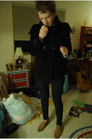 millard fillmore coat - H&M jeans - thrift boots