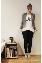 H&M jeans - H&M blazer - Cubus t-shirt - leather Converse sneakers