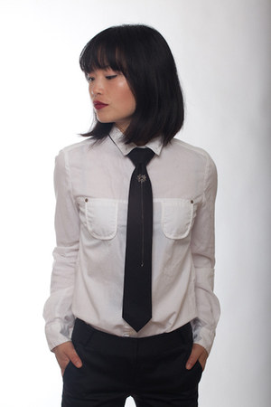 see by chloé shirt - wool title of work tie - The Limited pants