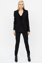 black Eva and Bernard blouse - black Eva and Bernard blazer - black Eva and Bern