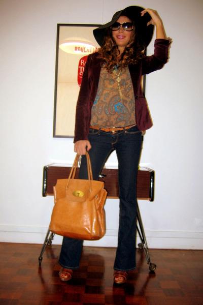 Aridza Bross bag - H&M jeans - H&M hat - c&a blazer - c&a blouse - asos heels