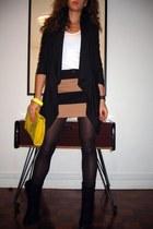 Cosmo boots - warehouse blazer - asos bag - Stradivarius skirt - vintage bracele
