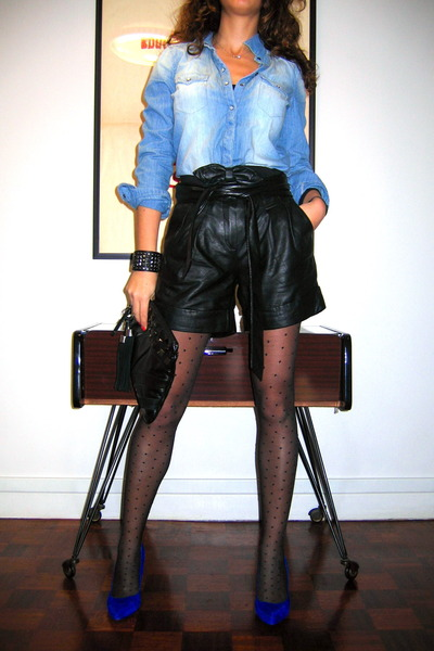 Zara shirt - Mango bag - Kookai shorts - YOGOEGO heels