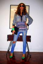 H&M blouse - asos jeans - vintage bag - Zara heels