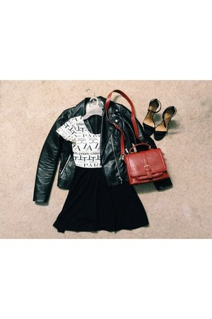 black skater dress Forever 21 dress - black Forever 21 jacket