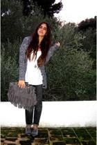 Zara sweater - Str blouse - BSK jeans - somewhere in paris accessories - thrifte