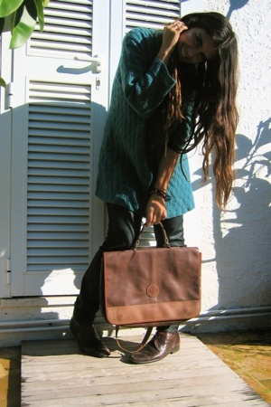 thrifted sweater - Zara jeans - thrifted and vintage accessories - thrifted and