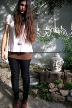 Zara blouse - Zara top - grannys vintage purse - vintage accessories - thifted s