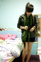 Topshop jacket - f21 skirt - f21 scarf - warehouse purse